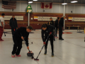 Two people curling